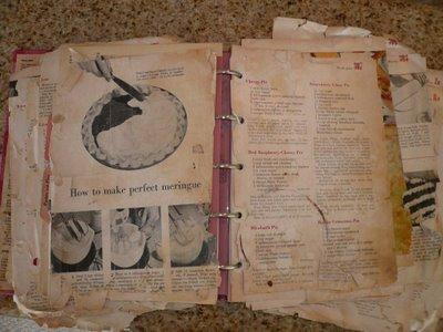 moms old cookbook