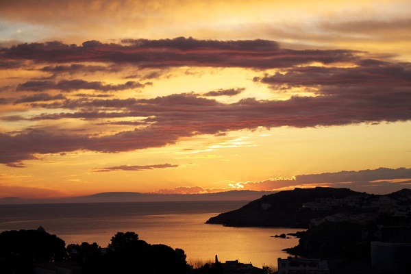 Sunset over Collioure